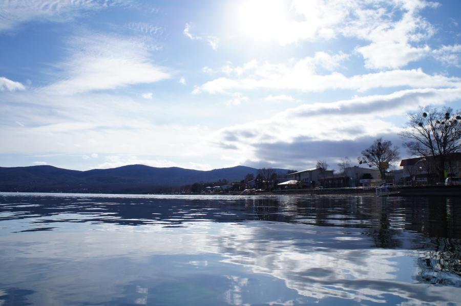 正月の山中湖